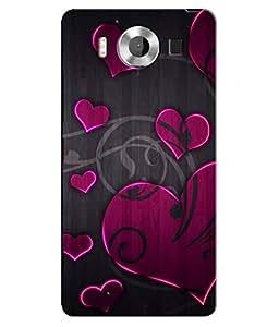 Citydreamz Hearts\Love\Valentine Hard Polycarbonate Designer Back Case Cover For Microsoft Nokia Lumia 950