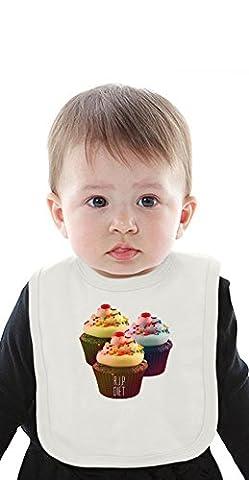 R.I.P. Diet Cupcakes Funny Organic Bib With Ties Medium