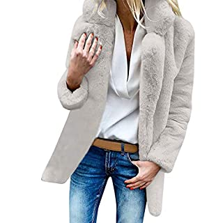 YIHANK Womens Ladies Winter Outerwear Coat,Warm Artificial Wool Jacket LapelGet Up App Local at Space Burlington Biker Awlgrip Wiki Guys Bed Drop Locations Inc Oven White