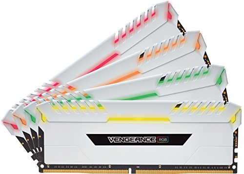 Price comparison product image Corsair Vengeance RGB 32 GB (2 x 16 GB) DDR4 3200MHz C16 XMP 2.0 Enthusiast RGB LED Illuminated Memory Kit - White