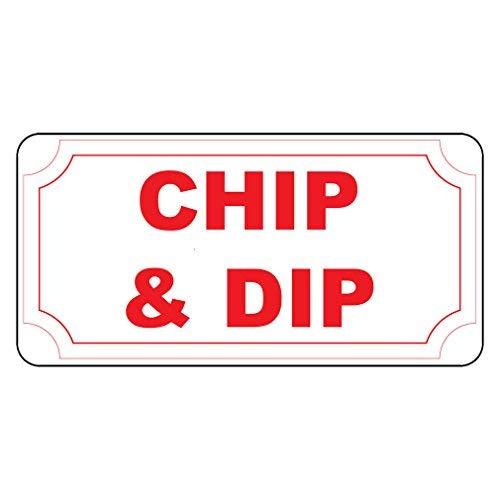 Kysd43Mill Schild mit Aufschrift Chip & Dip, Retro-Vintage-Stil, lustiges Metall-Warnschild, Haus-Dekoration, Hinweis, Sicherheits-Schild, Garage, Hof, 20,3 x 30,5 cm -