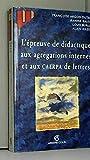 L'épreuve de didactique aux agrégations internes et aux CAERPA de lettres