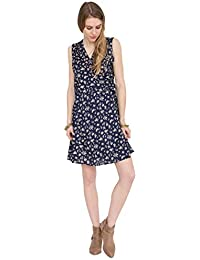 likemary V-Neck Sleeveless Wrap Dress In Florals Print