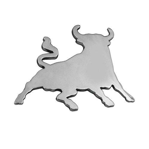 3D07207 - Chrome 3D emblème de la voiture auto adhésif logo caractères (3M auto-adhésif) Toro Bull