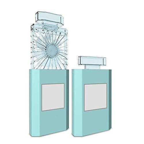 rer Mini-Lüfter, Wiederaufladbarer USB-Lüfter Für Studentenwohnheime GAOFENG (Color : Blue, Size : 7.8 * 2.8 * 5.7CM) ()