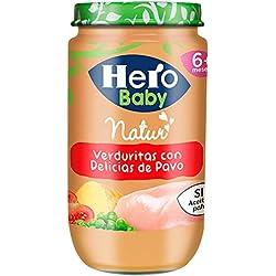 Hero Baby Natur Verduritas con Delicias de Pavo Tarrito de Puré para Bebés a partir de 6 meses Pack de 6 x 235 g
