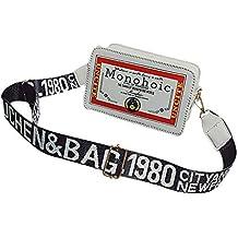 Luckycat Moda Señora Hombros Pequeña Mochila Carta Monedero Teléfono Móvil Messenger Bag Lois Marronconverse Desigua Mano