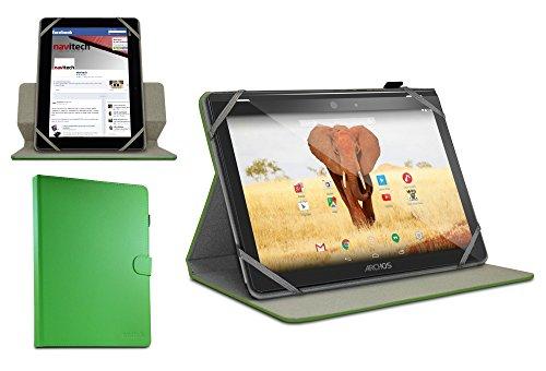Navitech 10 Zoll stilvolles rotierbares 10 Zoll Stand Case Cover Hülle in Grün mit Stylus Pen für dasArchos 101 Magnus / Archos 101 Magnus Plus