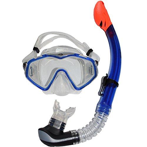 COX SWAIN Maske/Schnorchel Tauchset DEEP-PRO, Colour: Clear Blue, Size: One Size