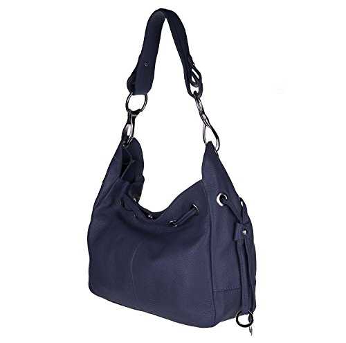 Unknown, Borsa a spalla donna blu scuro 33x25x12 cm (BxHxT) blu scuro