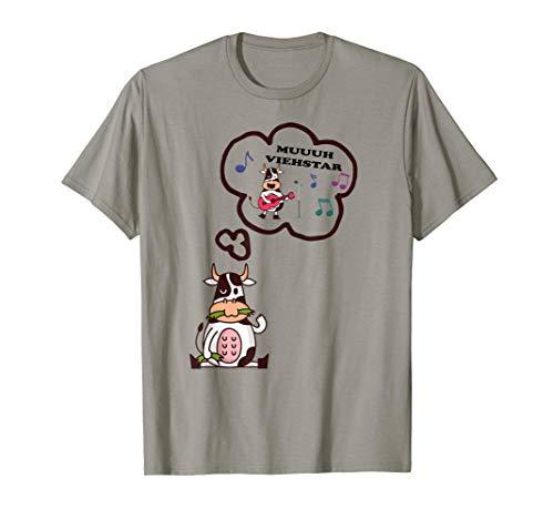 Kostüm Frauen Bauern - Muhviehstar T-Shirt Damen Für Landwirt Im Einsatz Kuh Kostüm T-Shirt