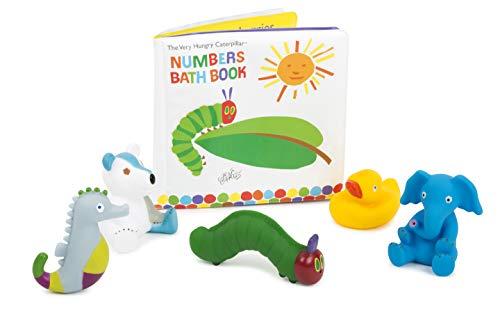 small foot 11170 Raupe Nimmersatt Badebuch mit Figuren im Set Spielzeug, Mehrfarbig (Gummi-ente Baby-buch)