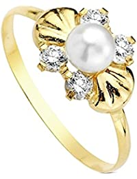 Sortija oro 18k perla multipiedra [AB3104]