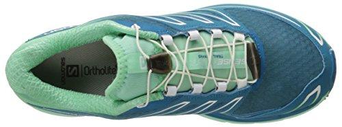 Salomon Damen Sense Mantra 3 Traillaufschuhe Blau (Fog Blue/Lucite Green/Tonic Green)