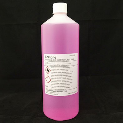 1 x 1 LITRE (L) NAIL POLISH REMOVER ACETONE SHELLAC UV GEL CLEANER PINK
