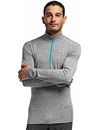 Icebreaker Oasis - Sous-vêtement en laine mérinos Homme - LS, Half Zip gris Taille cadre XL