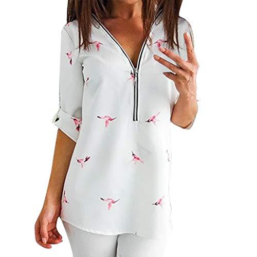 Kostüm Broadway Frauen - Dtuta Bluse Damen mit Reißverschluss, Langarmshirt Elegant Sweatshirt Bluse V-Ausschnitt Pullover Oberteil,Sexy Tees Sommer Bluse Tunika Herbst KleidungT-Shirt Tops