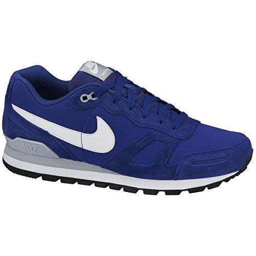 Nike 454395 401 Air Waffle Trainer Leather Herren Sportschuhe - Running Mehrfarbig (Dp Ryl Blue/White-Slvr Wng-Blk) 43