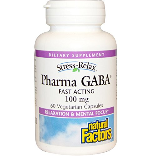 Natural Factors, Stress Relax (Stress-Entspannung), Pharma GABA, 100mg, 60 Veg. Kapseln -