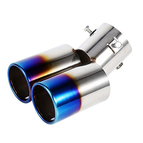 76mm Stainless Steel Car Rear Exhaust Pipe Tail Muffler Tip Gold