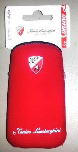 Lamborghini Handy-SlimCase Schutztasche, rot für iPod, iPhone u.v.m.