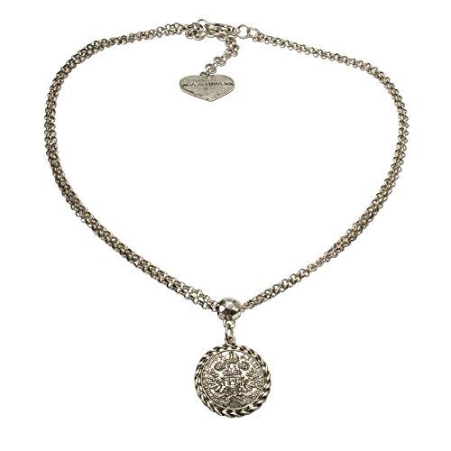Vintage Trachten Schmuck Halskette - Alpenflüstern Trachtenkette Münze klein - Damen-Trachtenschmuck