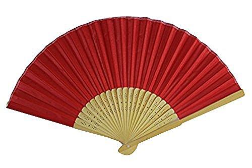 Tissu de soie Rouge à la main Fan Bambou côtes fête de mariage dragées