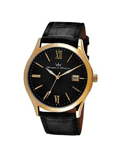 Reloj Yonger & Bresson hombre soleillé negro–HCP 045/AA–Idea regalo Noel