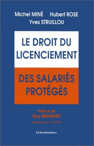 Le droit du licenciement des salaris protgs
