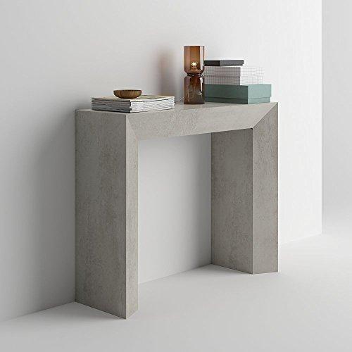 Mobilifiver - tavolo consolle giuditta, cemento, in legno, 90 x 30 x 75 cm