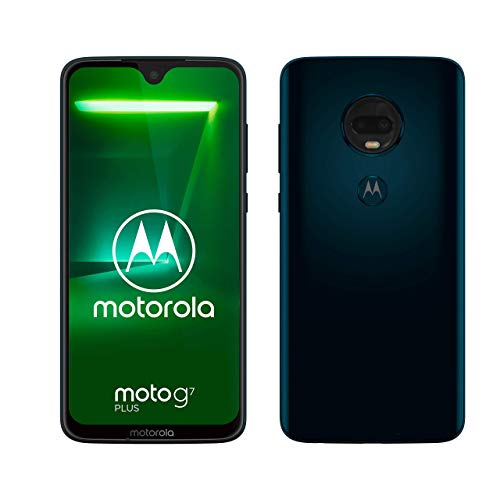Moto g7 Plus Dual-SIM Smartphone (6,2 Zoll Display, 16-MP-Dual-Kamera, 64GB/4GB, Android 9.0) Deep Indigo + Schutzfolie [Exklusiv bei Amazon] -
