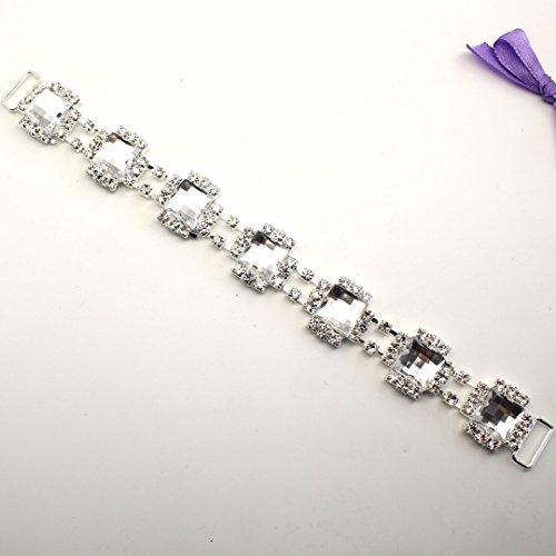 Costume 2 pezzi/confezione da 205 mm, connettori in metallo con cristalli, a forma di bottoni, con fibbia, per costumi da bagno
