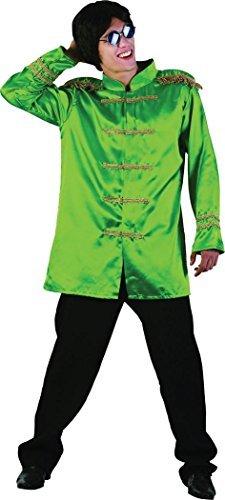 Erwachsene Kostüm Hippie Beatles Pop Star 1960s Weihnachten SGT Pepper Jacke - Grün, Chest Size 44