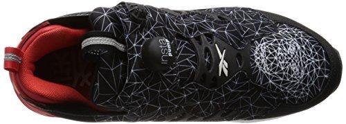Basket Reebok Instapump Furry Road en tissu noire avec empreinte Noir