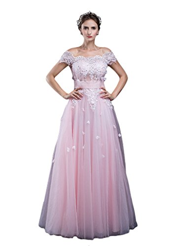 Vimans Damen A-Linie Kleid rosa rose Gr. 38, - Princess Kleider Disney Ball