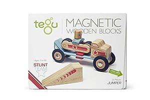 Tegu - Juego de Bloques de Construcción de Madera magnéticos Equipo Acrobacias - Jumper Saltador - 25 Piezas
