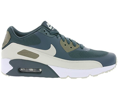 Nike Herren Air Max 90 Ultra 2.0 Essential Turnschuhe Blau (Blue Fox/light Bone/dark Mushroom/white)