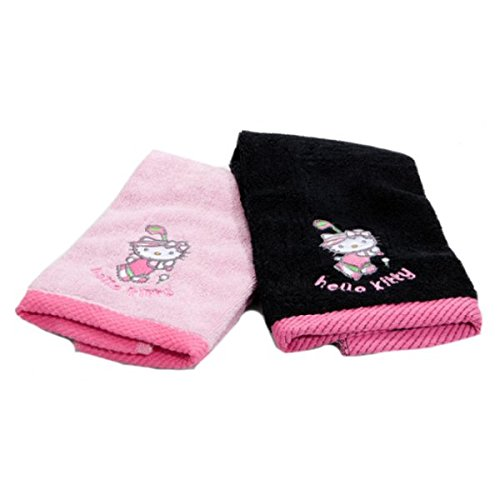 hello-kitty-serviette-de-golf-lot-de-2-noir-rose