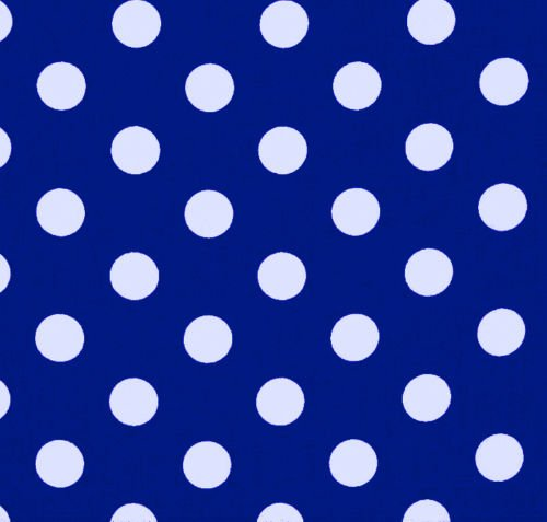 Royal Blue POLKA DOT POLY COTTON CHECK TABLE CLOTH COVER Size : Square 110x110cm Royal Blue Round Table Cover