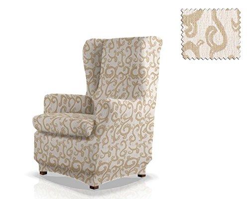 funda de sillón orejero elástica Rom Tamaño 1 plaza (Estándar), Color 00 (Varios colores disponibles.)
