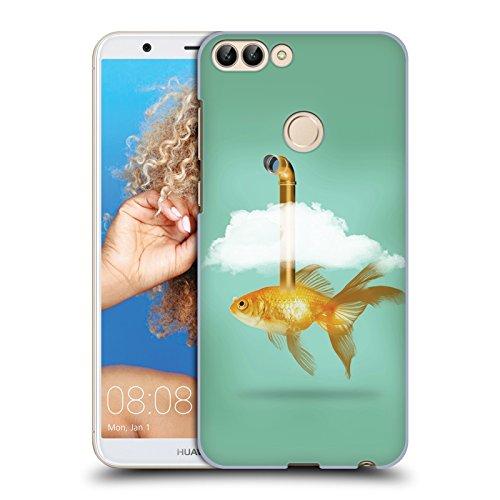 Tasche Periskop (Offizielle Vin Zzep Periskop Goldfisch Fisch Ruckseite Hülle für Huawei P Smart / Enjoy 7S)