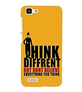 FUSON Think Different And Believe 3D Hard Polycarbonate Designer Back Case Cover for Vivo Y27 :: VivoY27L