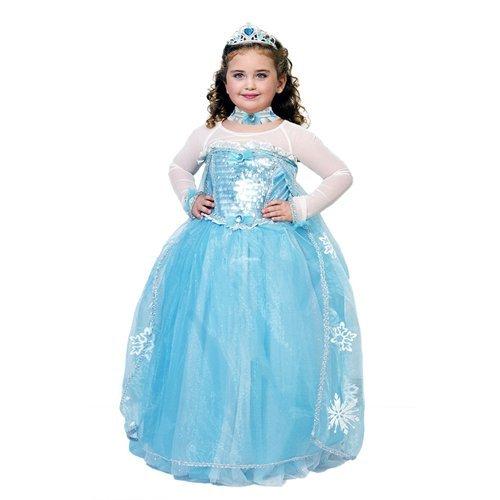0429a6b27887 Costume Vestito Abito Travestimento Carnevale Principessa Delle Nevi 53912  Anni 09 bambina turchese
