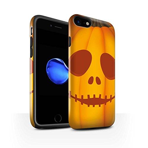 STUFF4 Glanz Harten Stoßfest Hülle / Case für Apple iPhone 8 / Glücklich Muster / Halloween Kürbis Kollektion Geist