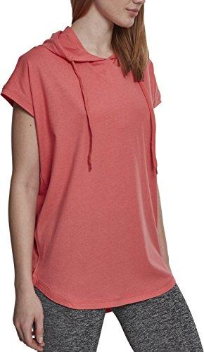 Grau Classic Long Sleeve T-shirt (Urban Classics Damen Ladies Sleeveless Jersey Hoody T-Shirt, Coral, XL)