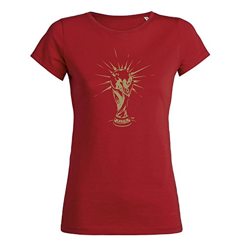 2018 FIFA World Cup Russia T-Shirt Trophy Red