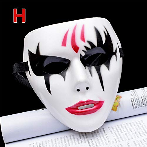 Gulin Halloween Scary Maske, Coole gespenstische Party, Geister Cosplay Maske Halloween Cosplay
