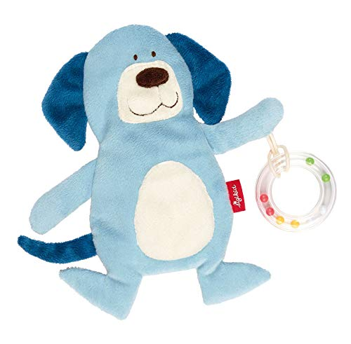 sigikid, Jungen, Aktiv-Kuscheltuch, Schnuffeltuch Hund, Blau, 41881