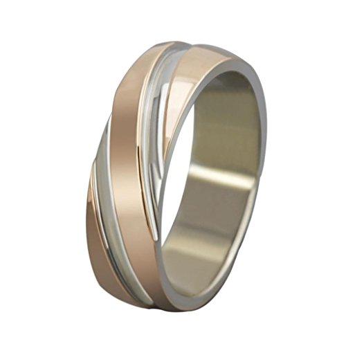 AMDXD Gioielli Anelli Acciaio Inox Anelli Uomo Matrimonio Fedi Nuziali Oro Rosa Dimensione 24.5