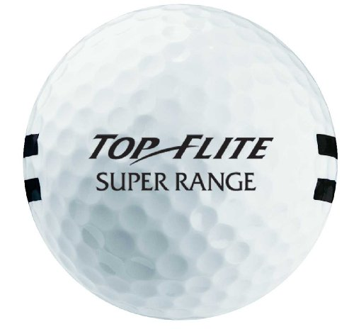 Top-Flite Paire Super Gamme Balles de Golf, White/Double Black Stripe